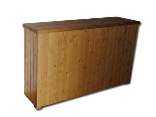 Alquiler de barras de bar de madera r sticas for Barra bar madera