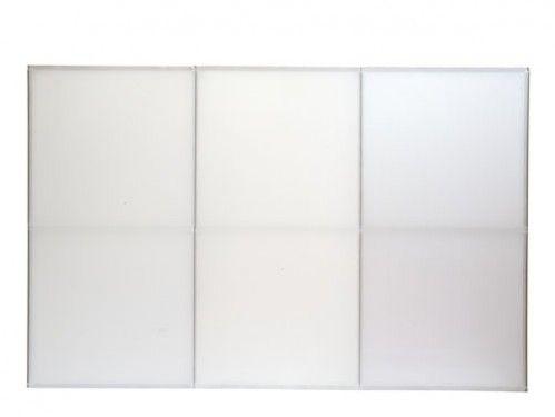 Alquiler de biombos textiles blancos a doble cara