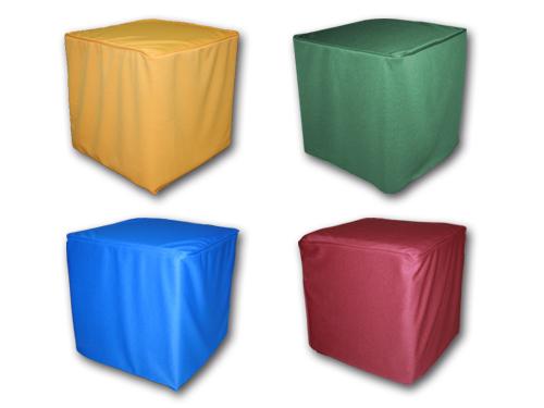 Alquiler de puffs cuadrados azules for Puff cuadrados