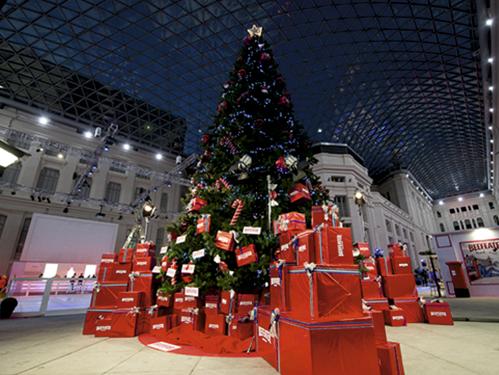 Alquiler de rboles de navidad gigantes for Imagenes de arbolitos de navidad adornados