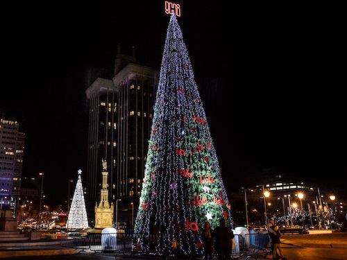 alquiler de rbol de navidad de metros para uso exterior con luces led snowfall y