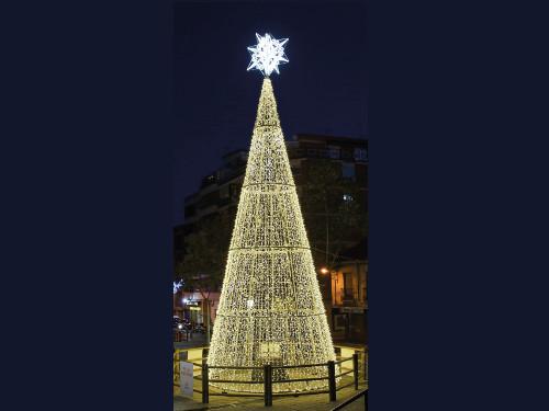 alquiler de rboles de navidad con estructura metlica de metros e iluminacin led