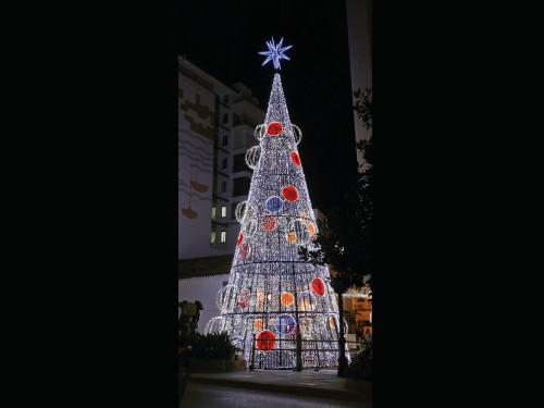 alquiler de rboles de navidad de metros de altura y moderno diseo con leds de