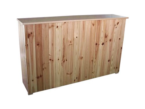 Alquiler de barras de bar de madera r sticas - Barra de bar madera ...