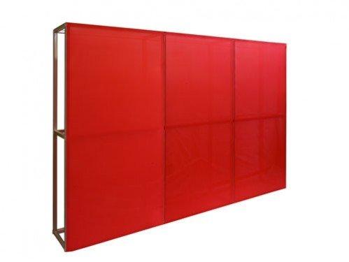 Alquiler Biombo 3x2 textil rojo