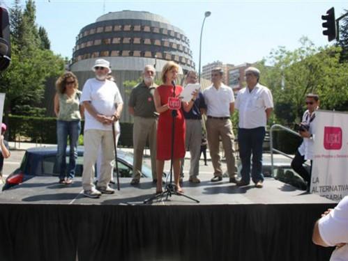 Alquiler de tarima para mitin electoral en Madrid
