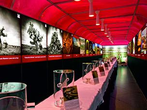 Alquiler de paneles de exposición en impresión textil, vinos de castilla