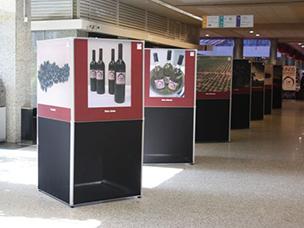 Paneles para exposición en impresión textil, Vinos de Castilla
