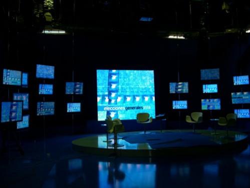 Pantalla LEDS y plasmas en plató TV