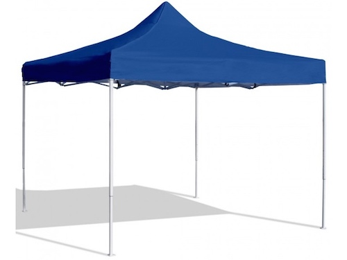 Alquiler de carpas plegables 2x2 de color azul para eventos