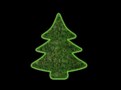 motivos navideos decorativos en tapiz de color y cordn