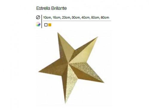estrellas de navidad brillantes en dorado y blanco con cinco puntas y de diferentes tamaos ideal