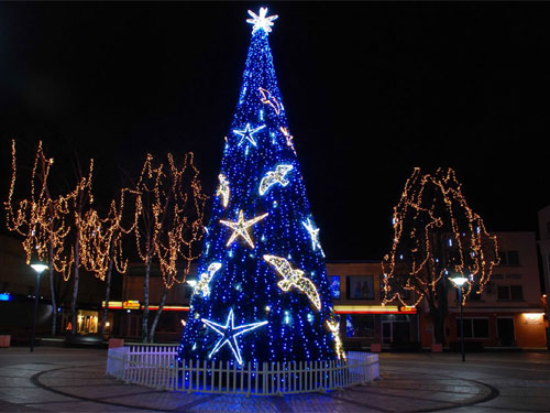 a04d77c415e Alquiler de adornos LED con forma de estrella de mar gigante para árboles  de Navidad