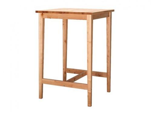 Alquiler de mesas cuadradas altas de madera for Mesa 70x70 madera