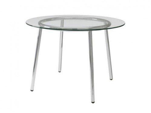alquiler de mesas redondas de cristal transparente