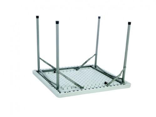 Alquiler de mesas cuadradas plegables for Patas de mesa plegables