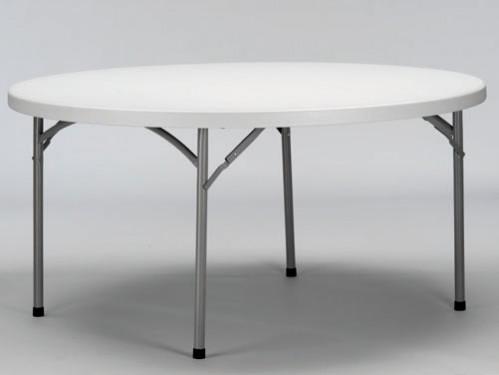 Alquiler Mesa redonda diámetro 180cm con patas plegables