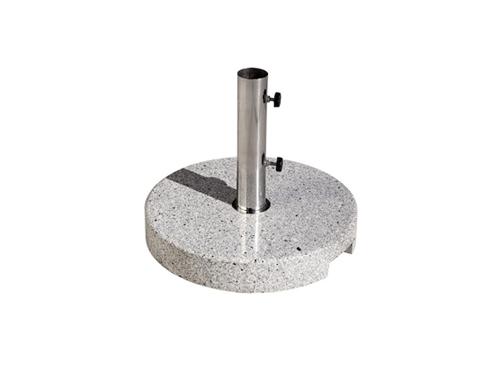 Alquiler de bases redondas de granito para sombrillas