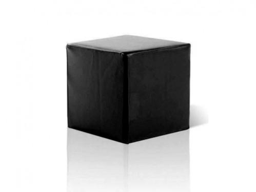 Alquiler de puff cuadrado negro en polipiel