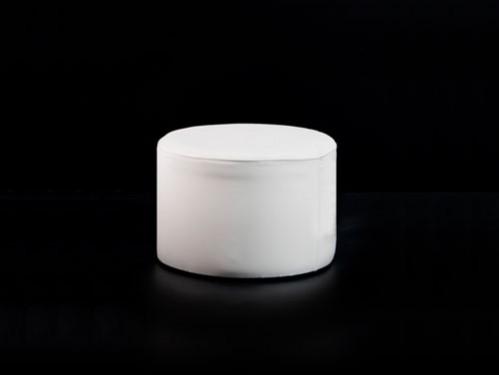 Alquiler de puff redondo 40 cm diámetro 30cm altura color blanco