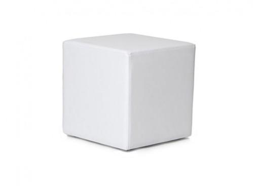 Alquiler de puffs cuadrados negros de piel for Puff cuadrados
