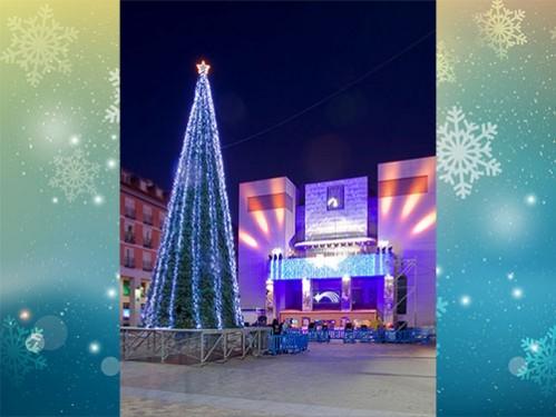 alquiler rboles de navidad de metros decorado en base con luces led y estrella de