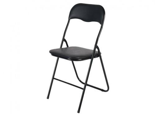 Alquiler silla plegable acolchada negra vip