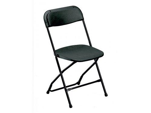 Alquiler de sillas plegables negras para eventos