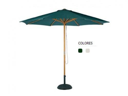 alquiler parasol de madera para eventos al aire libre